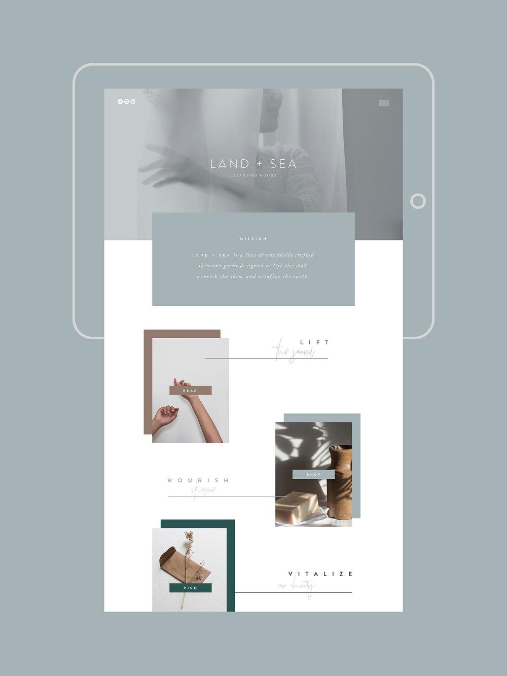 CANOPY_Land + Sea_Website Design