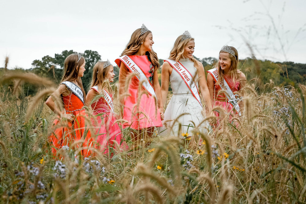 National American Miss Iowa Pageant Queens