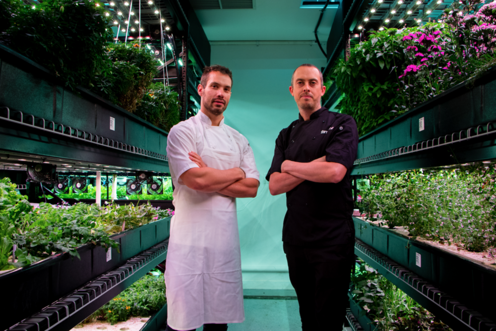 Executive Chef, Atera with Rob Laing, CEO, Farm.One. (Photo by Our Name is Farm)