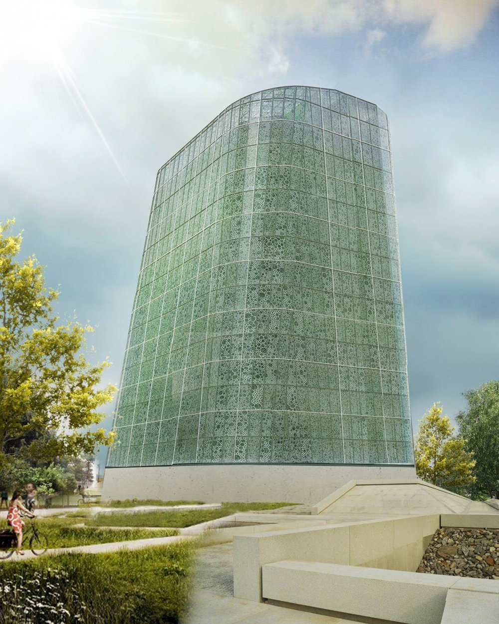 This building will produce approximately 550 tons of vegetables annually. (Image Credit: Plantagon)