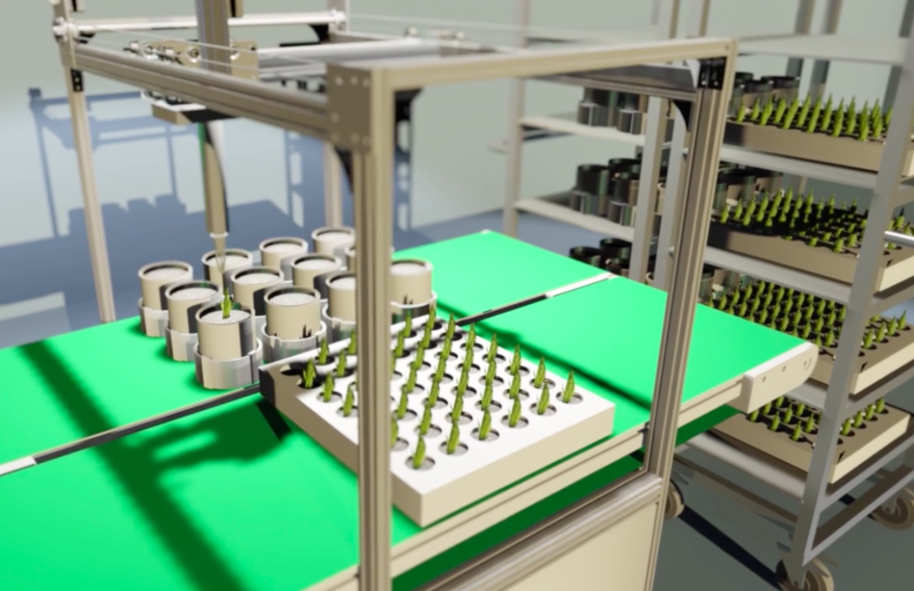 Automated robots will regulate plant growth and health. (Image Credit: Plantagon)