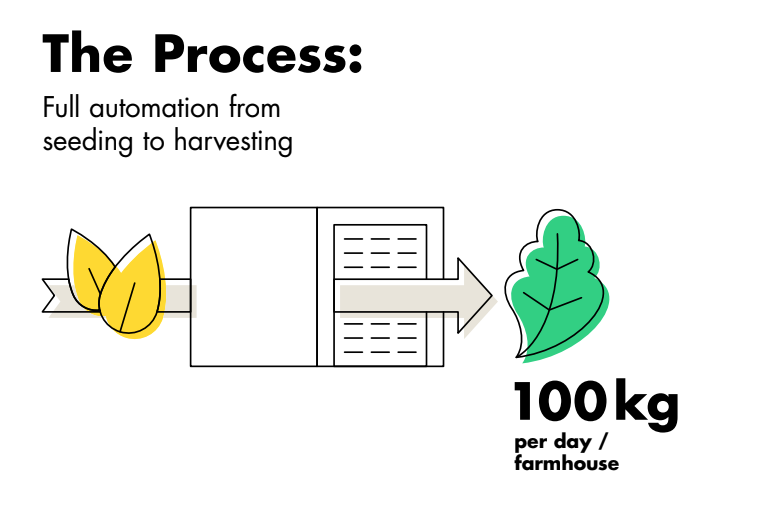 All farm processes are designed for full automation cutting out tedious tasks and risk of error from seeding, germination, propagation to harvesting.