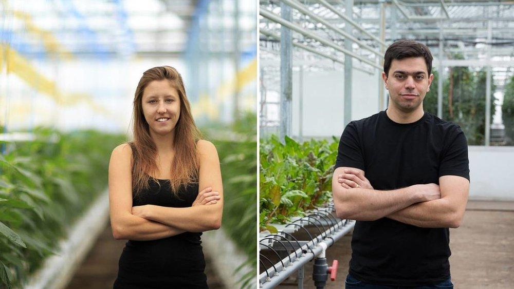 Lauren Rathmell and Mohamed Hage, co-founders of Lufa Farms. (Lufa Farms)