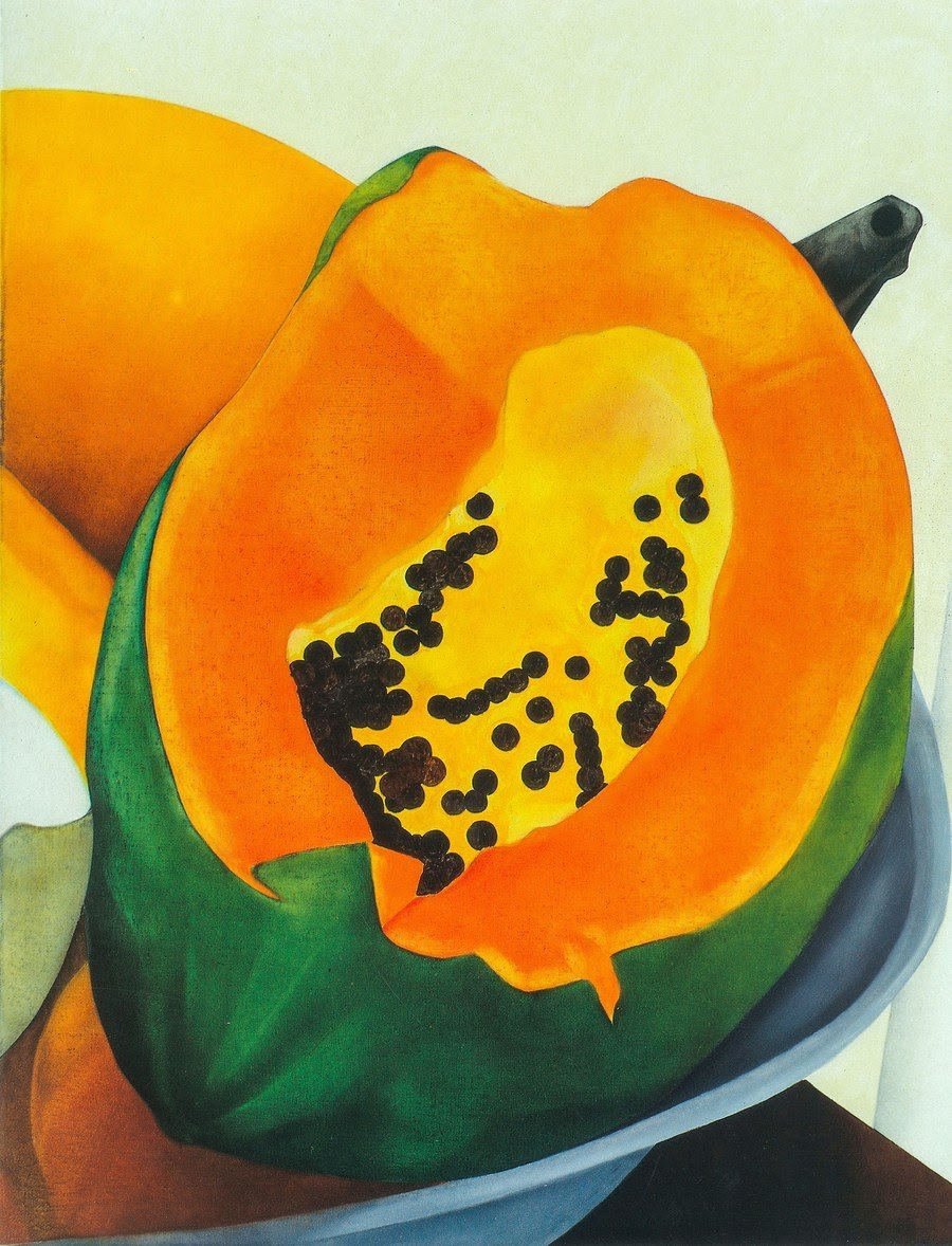 Puerto Rican farming was highly limited before the hurricane. Recovery efforts envision a more diverse crop. Detail of  Papaya , by Ana Mercedes Hoyos. (Photo: Courtesy of Ana Mercedes Hoyos.  Papaya , 1994. Oil on canvas, 23.6ˮ x 23.6ˮ)