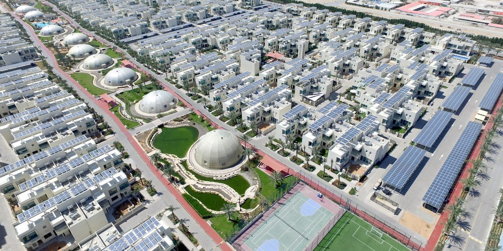 The Sustainable City, a new neighborhood outside of Dubai that embraces the principles of sustainable development and healthy living.