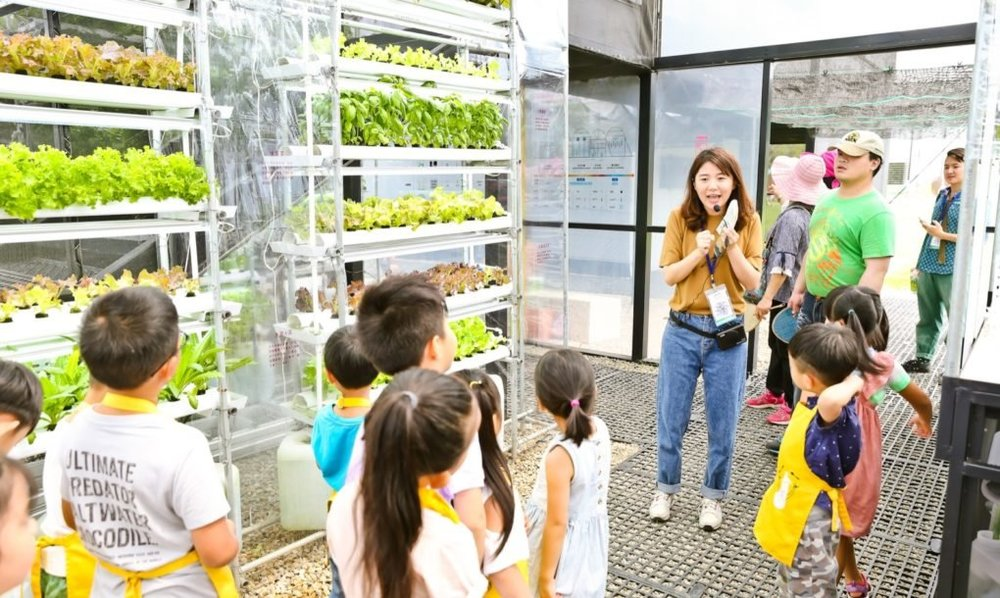 Greenhouse as a Home was developed with interactive programmatic zones conducive to education.
