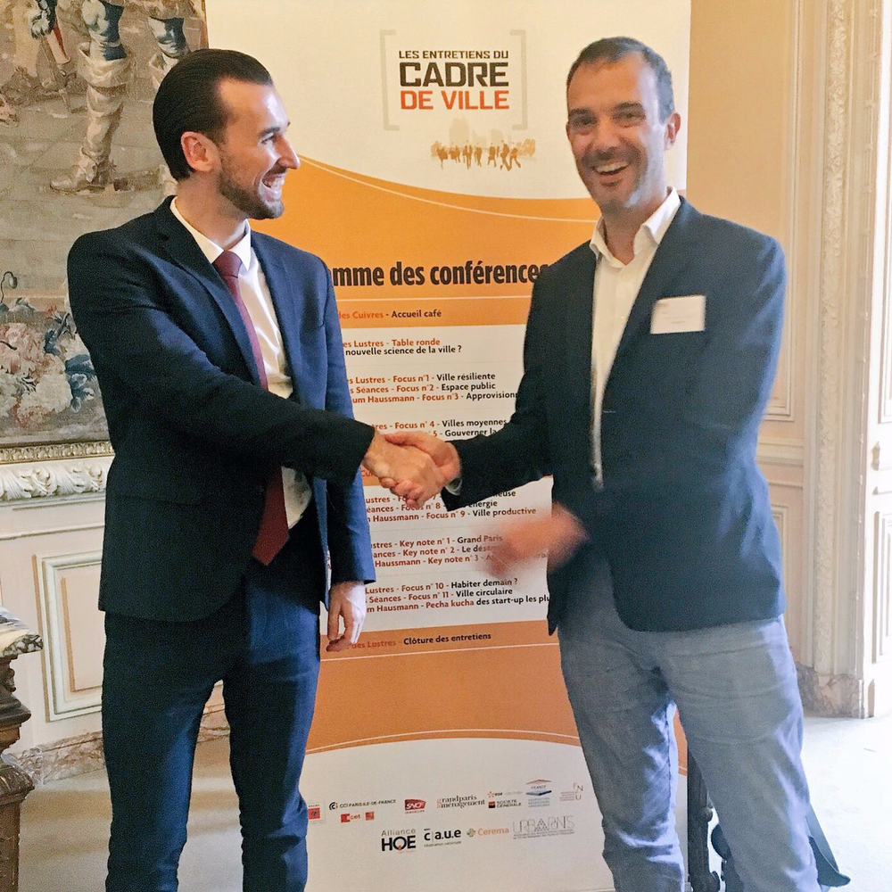 Agritecture Founder and Managing Director Henry Gordon-Smith (left), with Agence 360 Co-Founder and President François-Laurent Touzain (right).