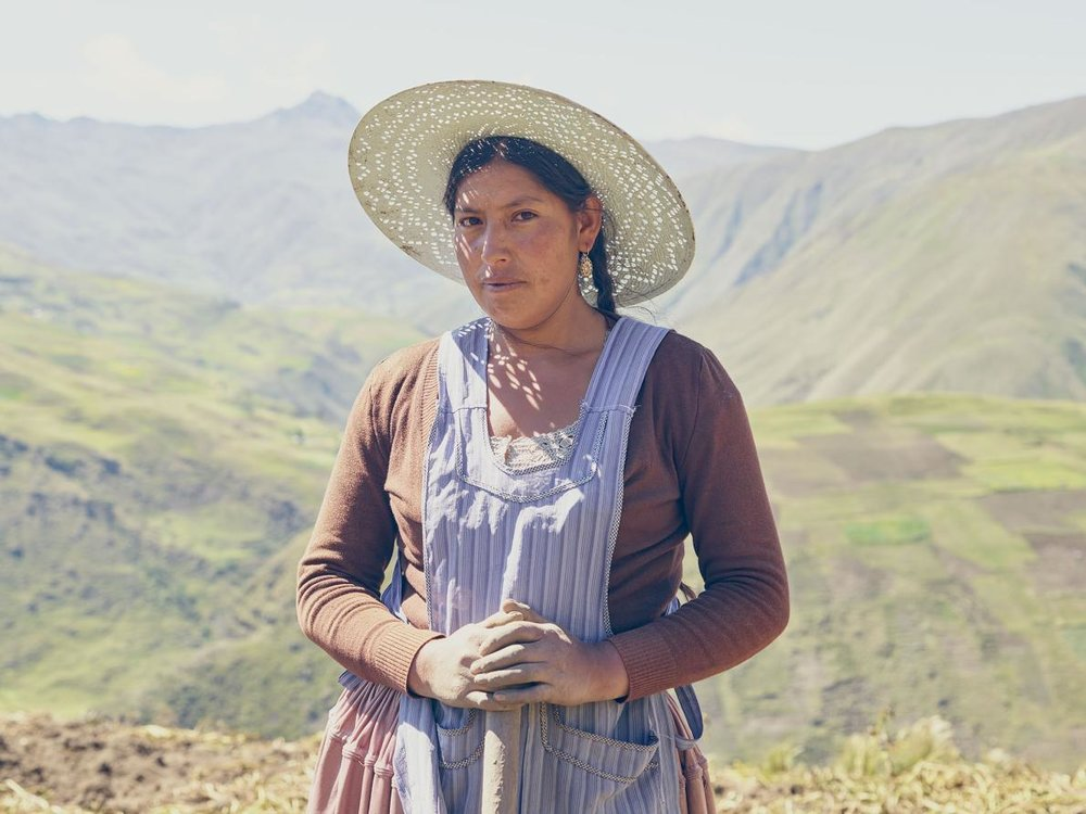 "Juana Marzana, El Choro, Bolivia. (ALL PHOTOGRAPHS COURTESY OF ""WE FEED THE WORLD"")"