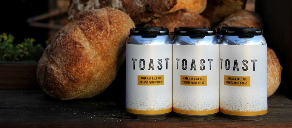 Brewed from surplus fresh bread,  Toast Ale 's U.S. brewery is located in Westchester, NY.