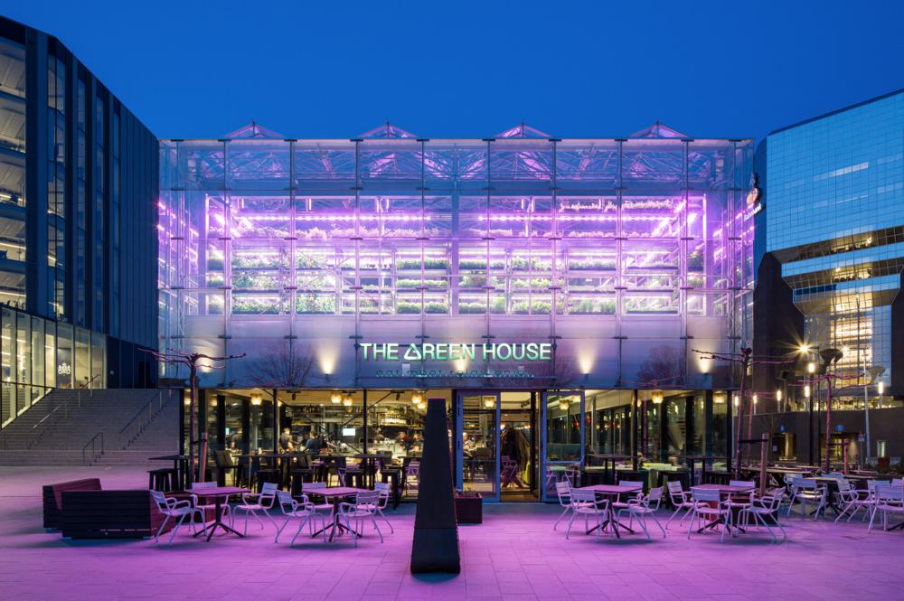 The Green House Restaurant in Utrecht, Netherlands.
