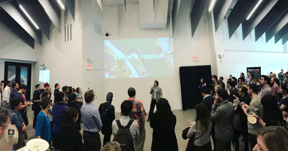 Henry Gordon-Smith addresses the audience at  Fresh in February , 2018, a unique annual event by the  NYC Agriculture Collective . Fresh in February 2019 will be on Feb 28th by Union Square -   tickets are on sale now  .