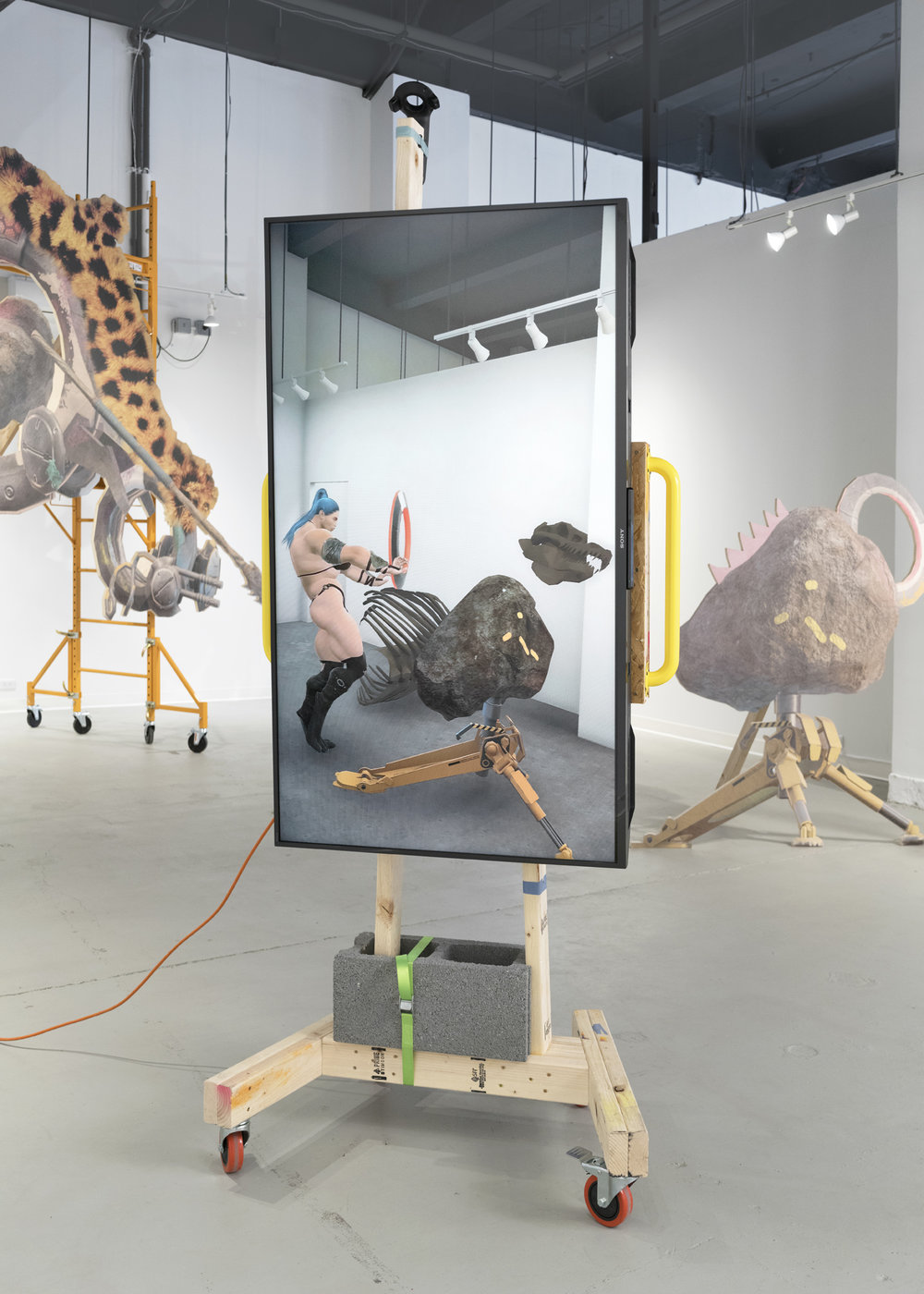 Theo Triantafyllidis,  Studio Visit , 2018, mixed reality installation