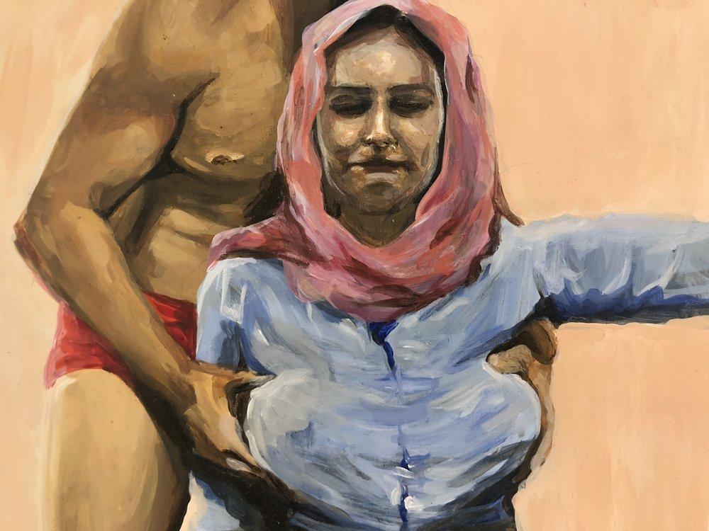Lara Nasser, Stroganoff , 2018, acrylic on panel, 8 x 10 inches