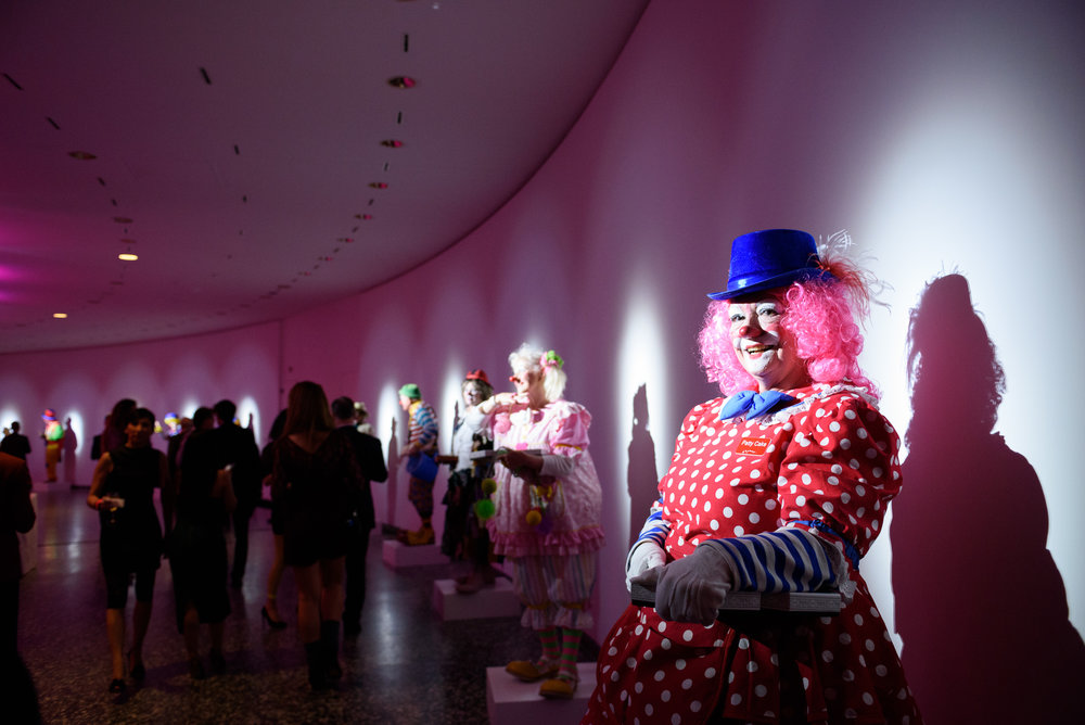 Send in the Clowns , 2018, food performance, Hirshhorn Museum, Washington, DC