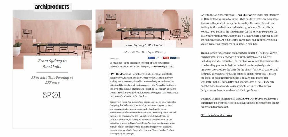 Archiproducts Online (IT), February 2017,  read the story here.