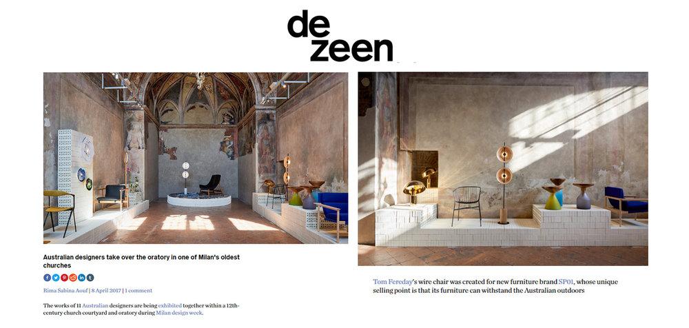 Dezeen Online, April 2017,  read the story here.