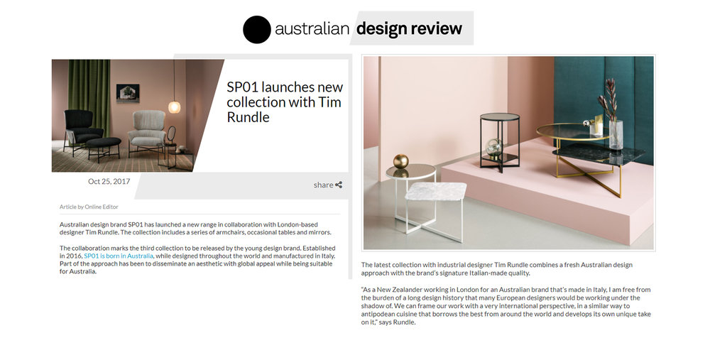 SP01 Design on Australian Design Review