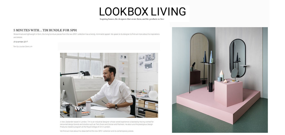 SP01 on LookBox Living