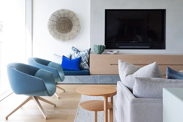 SP01 Anita armchairs in a home in Sydney's Northern Beaches.