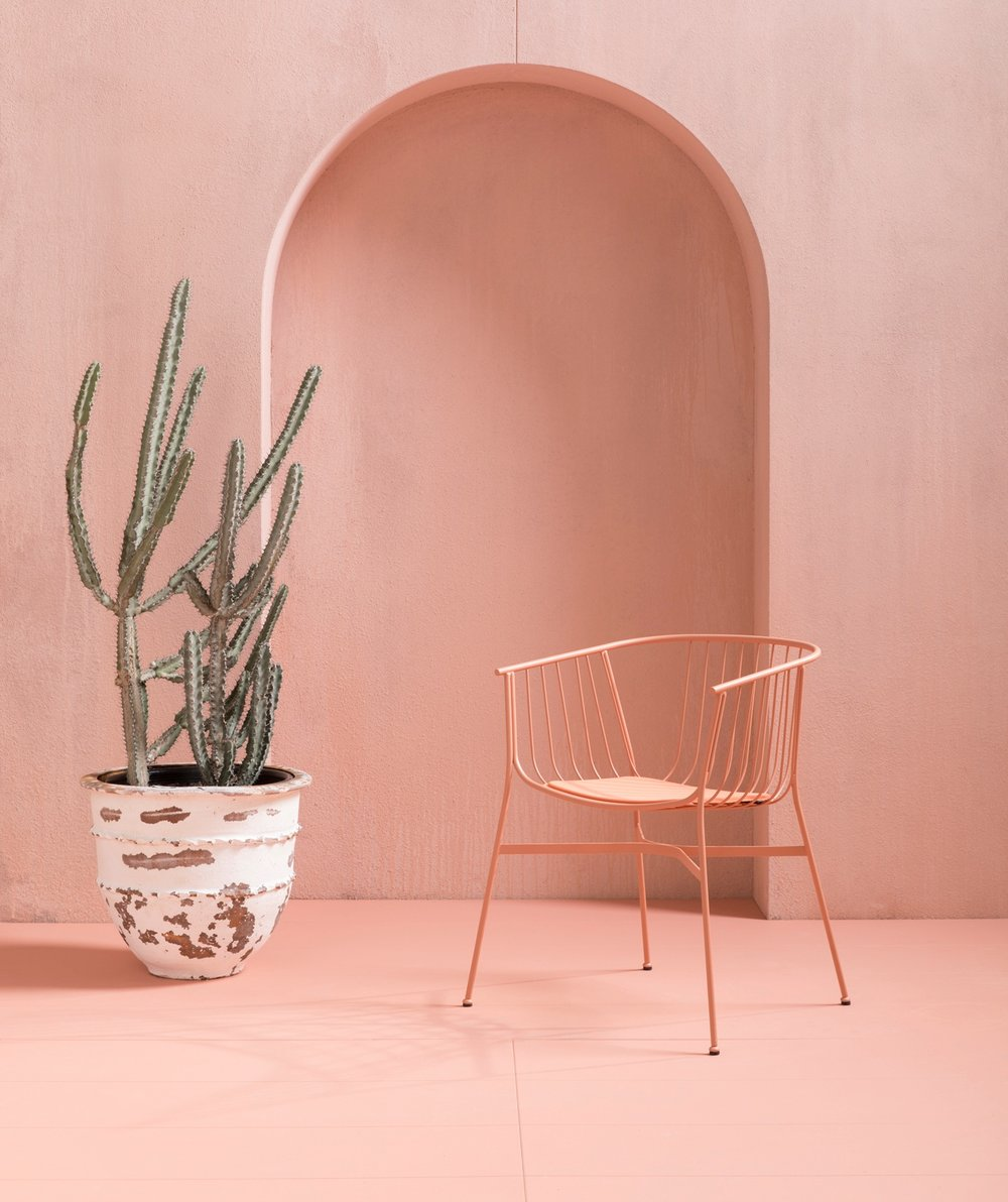 Jeanette chair from our Outdoor collection designed by Tom Fereday