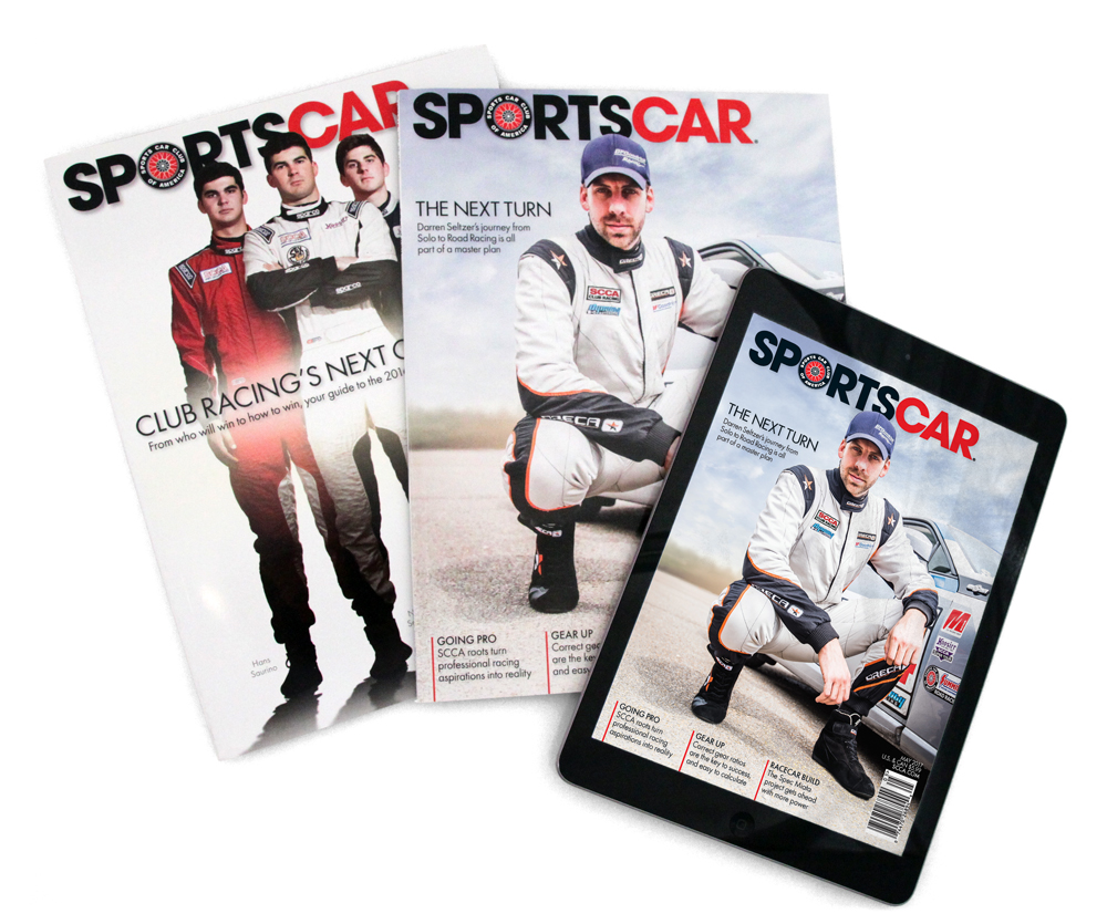 12x Per Year - SportsCar magazine reaches Club Racers and Solo Competitors looking for your products and services.