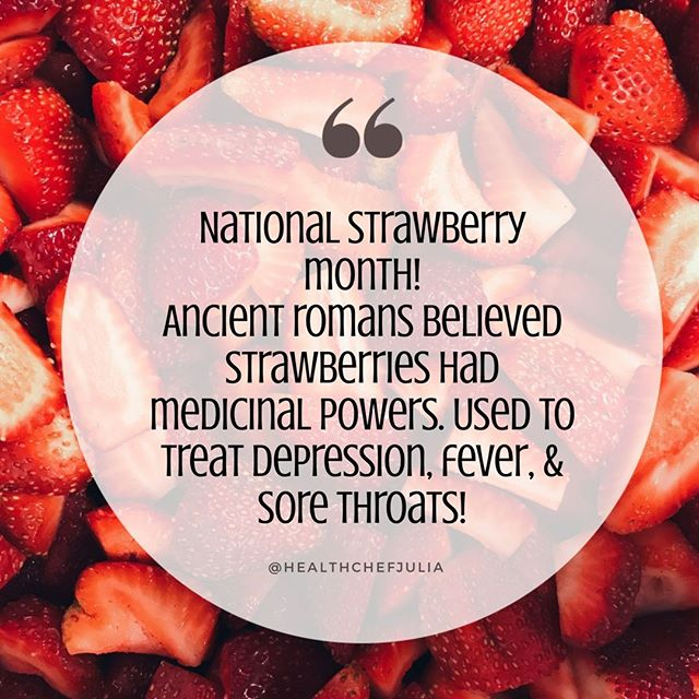 Did you know May is #NationalStrawberryMonth?! 🍓⠀ ⠀ I could not be more excited because #strawberries are one of my favorite fruits. 😍⠀ I love using them in my #greensmoothies, as a topping for oatmeal, or mixed into a #yogurtbowl. 🥣⠀ ⠀ Plus you can't beat their nutritional benefits! High in #fiber, #vitaminC, #potassium, and #antioxidants. 🙌🏻⠀ ⠀ Tell me your favorite way to use strawberries in the comments below. 👇🏻 .⠀ .⠀ .⠀ #healthchefjulia #healthycooking #healthycookingtips #healthychef #healthycookingmadeeasy #healthylivingtips #healthyeating #healthymealideas #NYCfoodie #NYCeats #NYCchef #healthyfoodshare #learntocook
