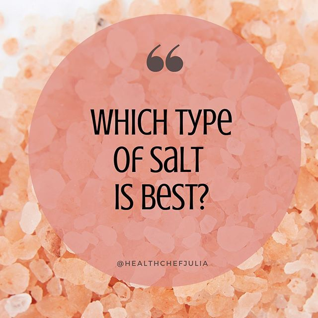 Salt is a great way to boost the flavor of your food! 🧂  But not all salt is created equal in terms of #healthbenefits. On the blog, I'm sharing important info on which types of salt you SHOULD and SHOULDN'T be cooking or seasoning your food with. 🧂  Don't get me wrong...ALL salt has #sodium, but some salts have more health properties than others! 👇🏻 Head to www.HealthChefJulia.com to get all the details! . . . . . #Salt #Saltie #Flavour #Cooking #Chef #NaturalChefAndChefLife #Organic #HimalayanSeaSalt #KosherSalt #LavaSalt #CookingSalt #HealthChefJulia #healthychef #organicchef #nyceats #nycfoodie #nyccookingclassess #saltbae #saltwaterfishing #saltlife #saltnpepa #saltflats #salted