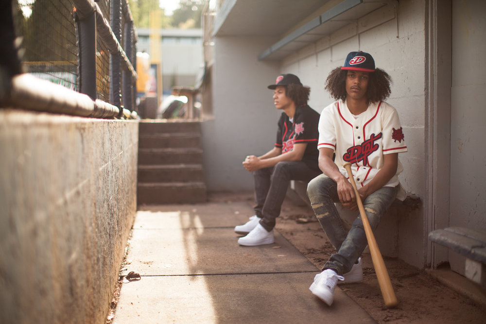The lookbook was shot on location at Nat Bailey Stadium. Photographed by Ian Azariah