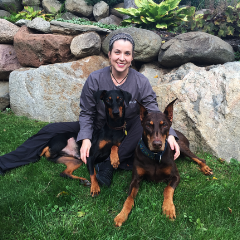 Dr. Liv Kismartoni, Doctor of Veterinary Medicine    Dr. Liv Kismartoni earned her Bachelor's and Master's degree in Public Health from the University of Illinois at Chicago. She graduated from the University of Wisconsin's Veterinary School in 2010. Dr. Liv is active in the community and works very closely with responsible Doberman breeders as well as Doberman and Golden Retriever rescues