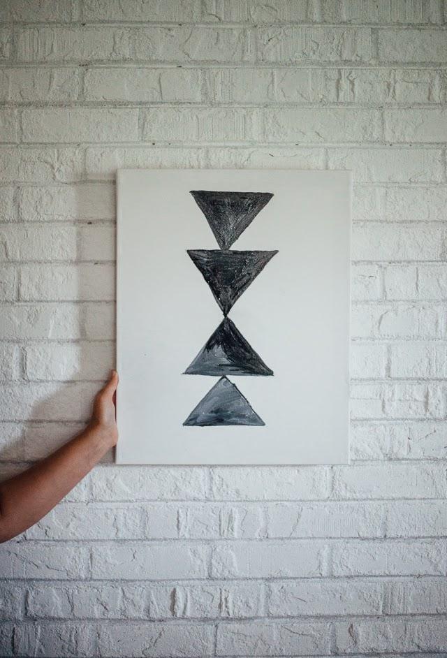 DIY // Geometric Wall Art