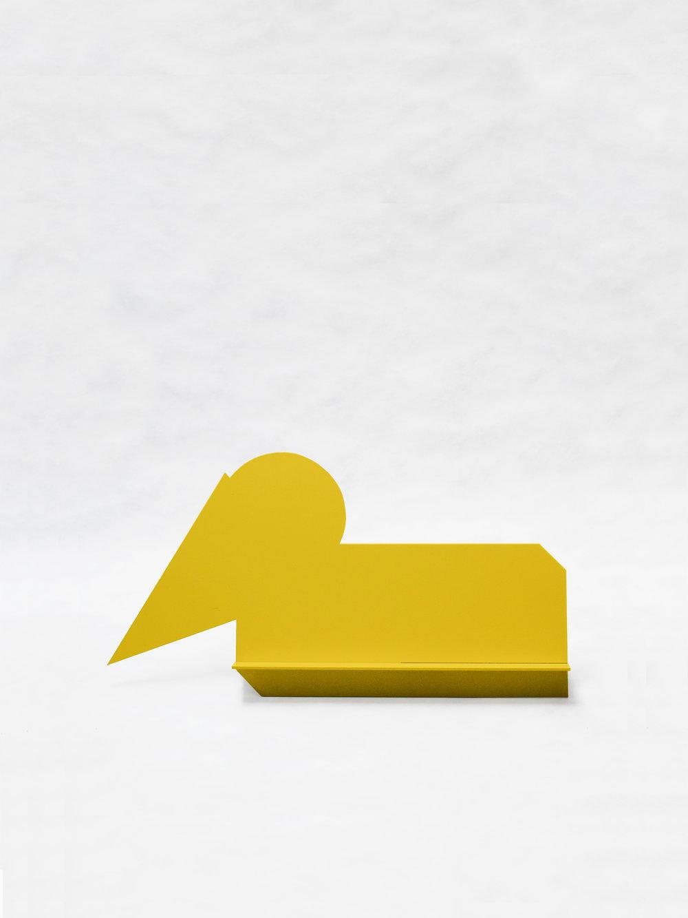 "Gnome Sleeping (Yellow)   30"" x 6.5"" x 16""  $298.00"