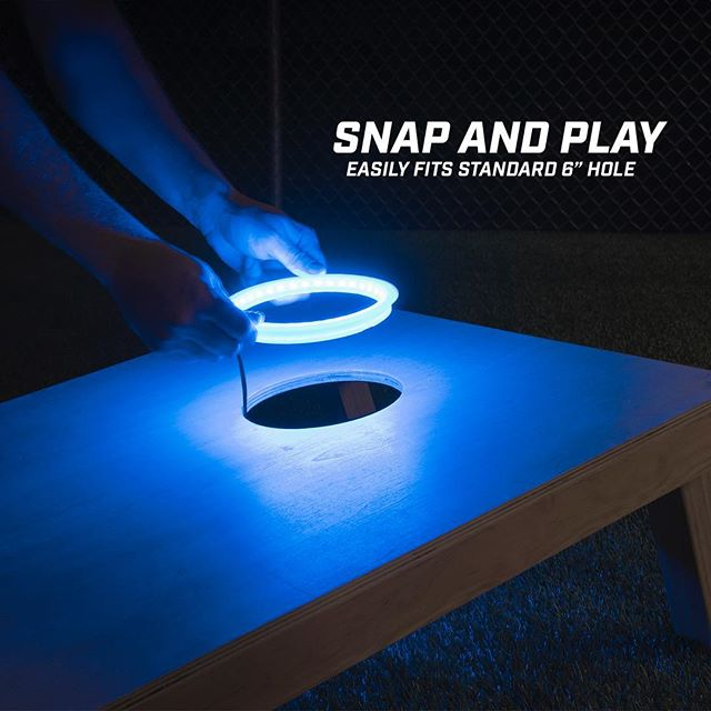 Let's be honest who doesn't want to keep playing after dark! Take the game into the night with our LED rings! . . . . . . . . . . . . . . . . . . . . . . #gosports #nightlife #night #fun #glowing #california #tailgate #new #sports #event #light #awesome #unique #gift #ideas #custom #blue #afterhours #park #cornhole #funny #best #premium #beach #sand #memories #work #workflow