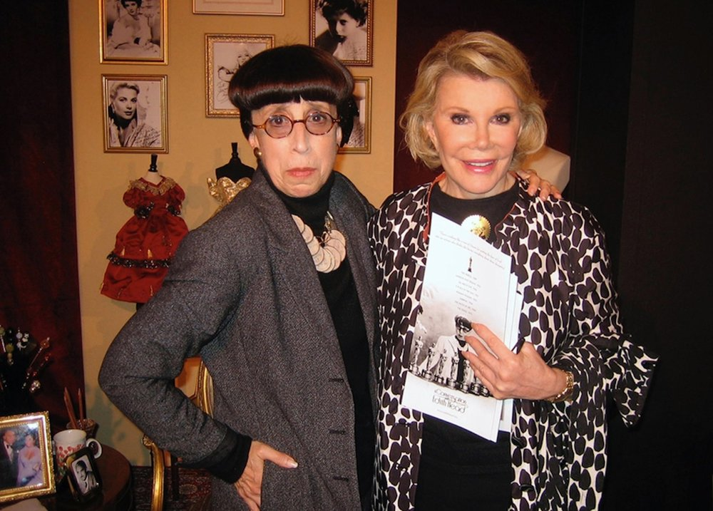 Edith Head (Suz) with Joan Rivers