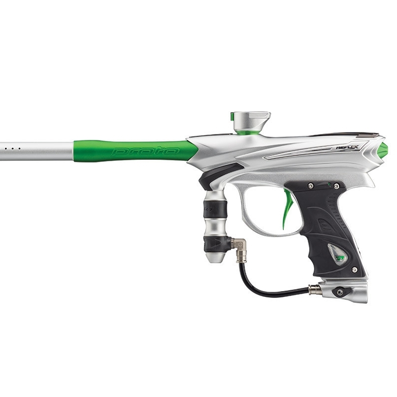 Protorail paintball marker - Shoot 10+ rounds a second! With features such as ramping and electrically driven spool valve technology these guns allow you to shoot ropes of paint at your enemy, keeping them behind bunkers and your team on the front, or maybe just finish off that stag?