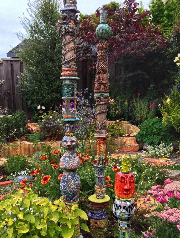 3 garden totems.