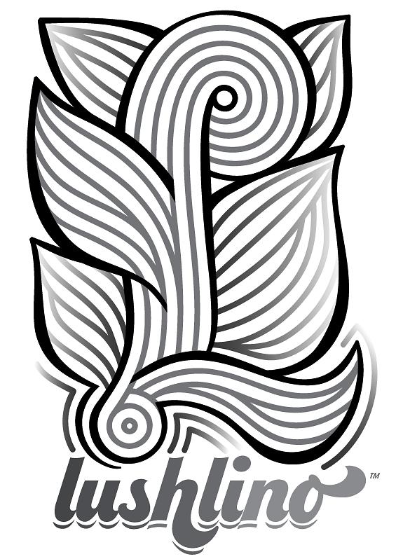 LushLino™ is here! My logo for custom vinyl/ retro linoleum.