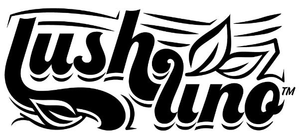 LushLino™ is here! My logo for custom vinyl/ retro linoleum. (wide design)
