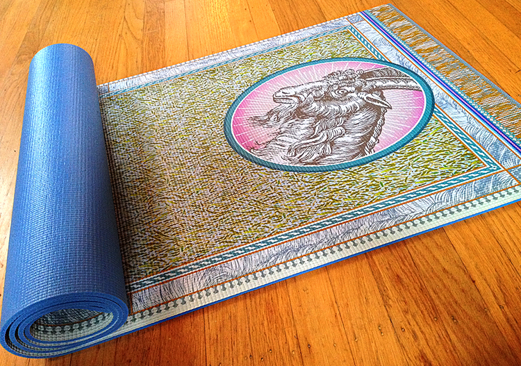 Grateful Goat yoga mat.