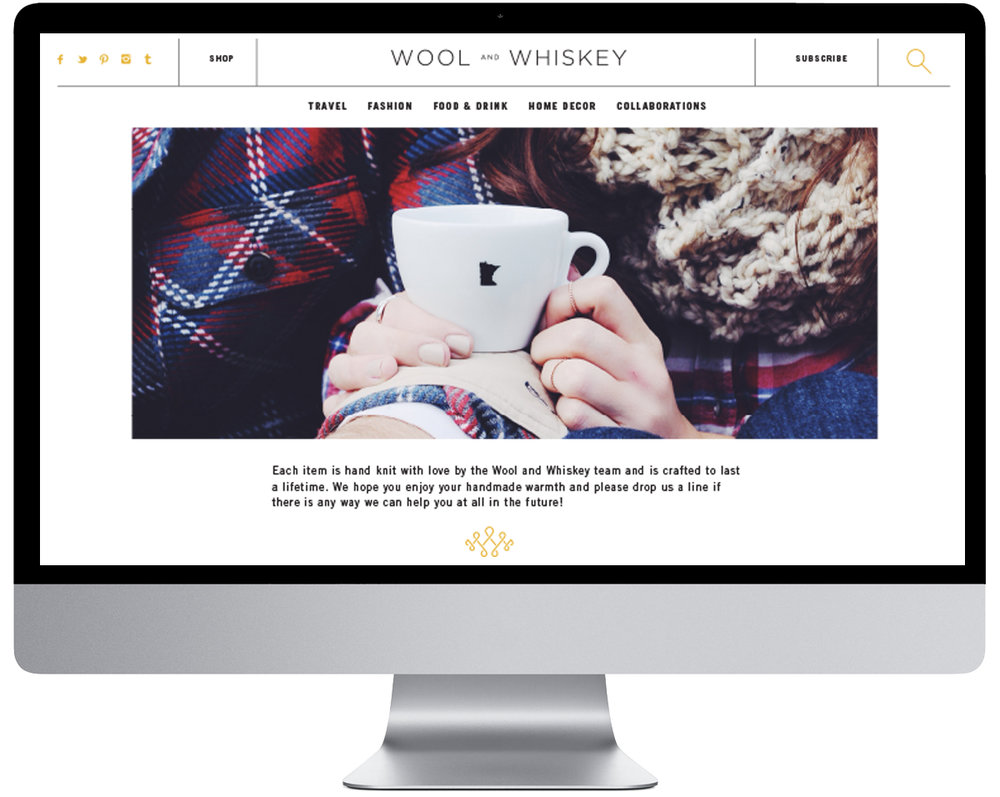 Wool and Whiskey website by Kayd Roy
