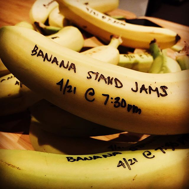 Mark your calendars for April 21 at 7:30pm at the Newman Center.  There will live music, lots of food, and maybe a banana or two. 🍌🎤🍌🎤🍌🎤🍌🎤🍌