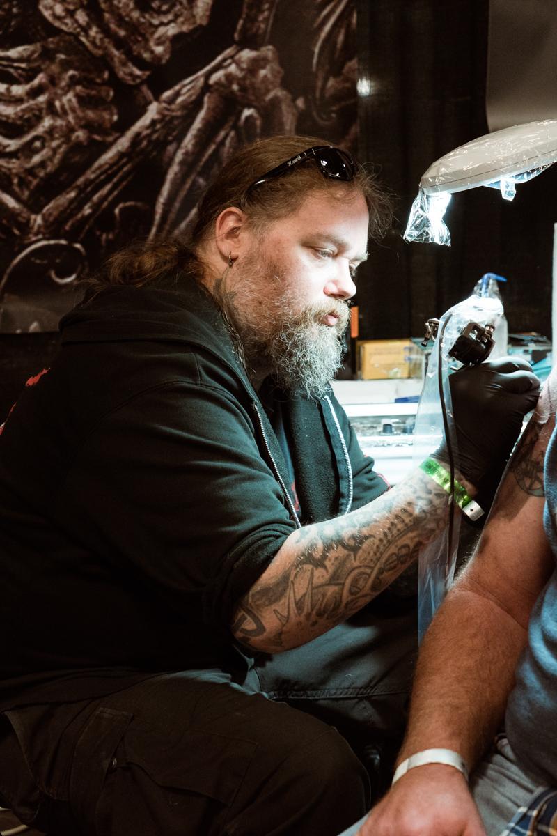 Tattooer Jon Zig from Wizard Castle Dragon Tattoo in Austin