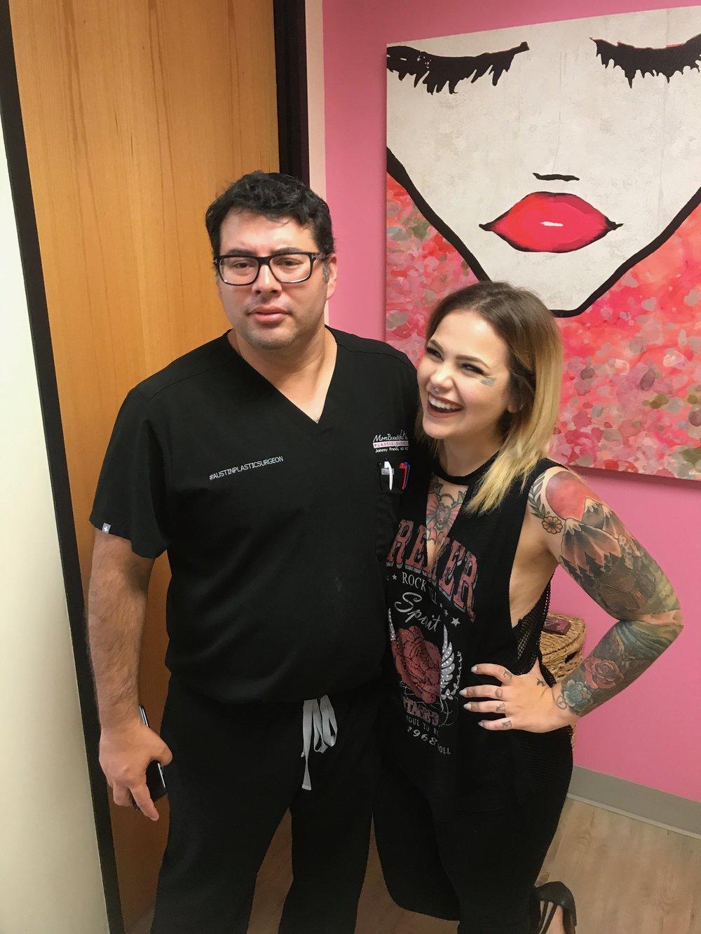 Dr. Franco with Monica Zamora
