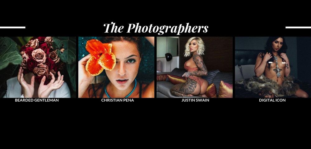 Workshop Photographers  Bearded Gentleman ,  Christian Pena,   Justin Swain ,  Digital Icon