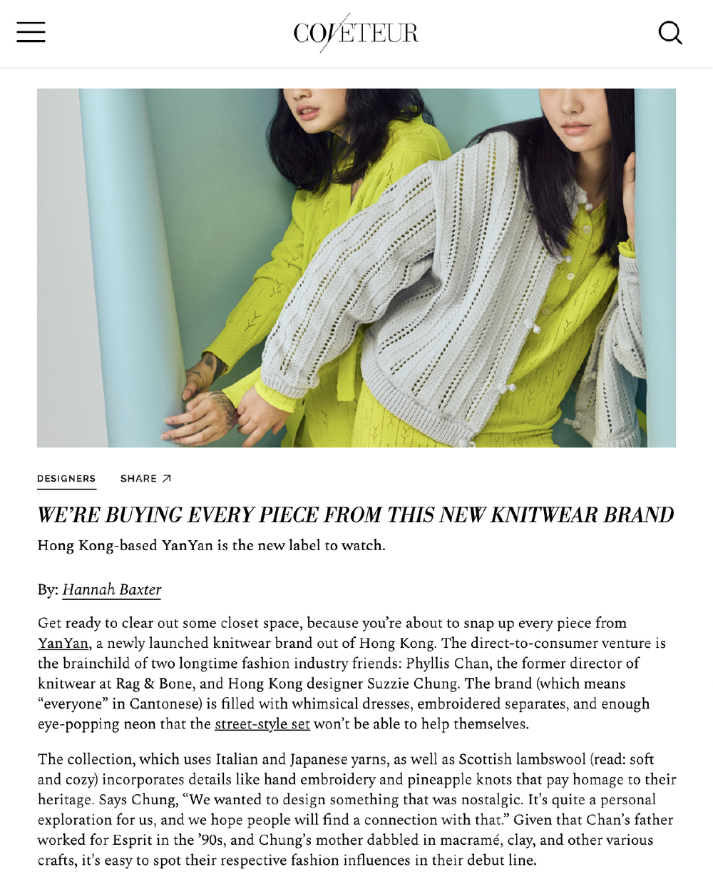 http://coveteur.com/2019/04/03/knitwear-brand-yanyan-launches-first-collection/