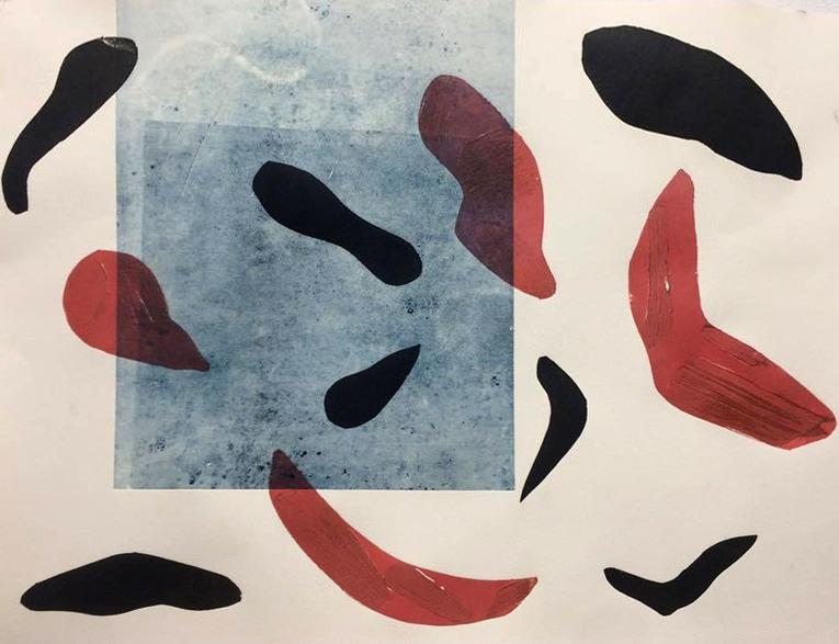 Collograph with monoprint
