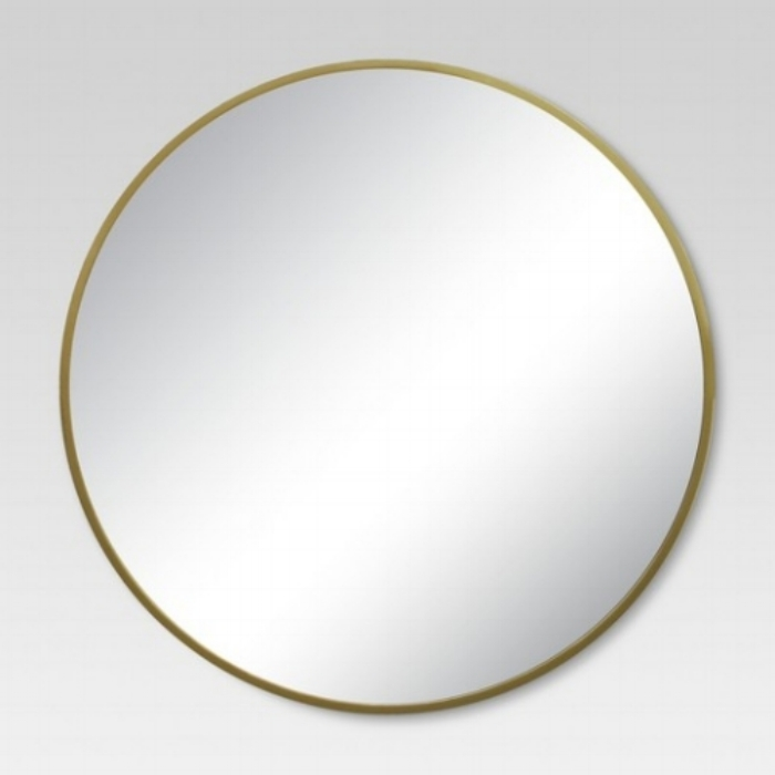 Target's Round Decorative Wall Mirror Brass - Project 62™