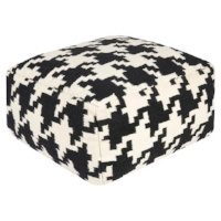Houndstooth Pouf