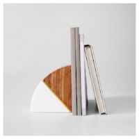 Target's Marble and Wood Bookend