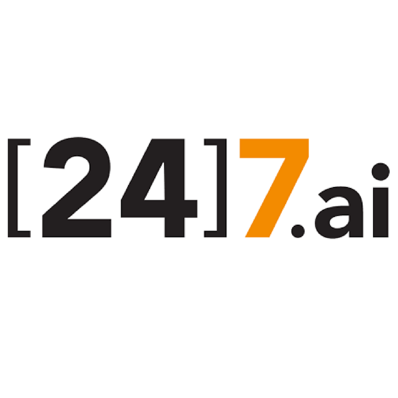[24]7.ai - [24]7.ai is redefining the way companies interact with consumers. Using artificial intelligence and machine learning to understand consumer intent, the company's technology helps companies create a personalized, predictive and effortless customer experience across all channels. The world's largest and most recognizable brands are using intent-driven engagement from [24]7.ai to assist several hundred million visitors annually, through more than 1.5 billion conversations, most of which are automated. The result is an order of magnitude improvement in digital adoption, customer satisfaction, and revenue growth. For more information, visit:http://www.247.ai.