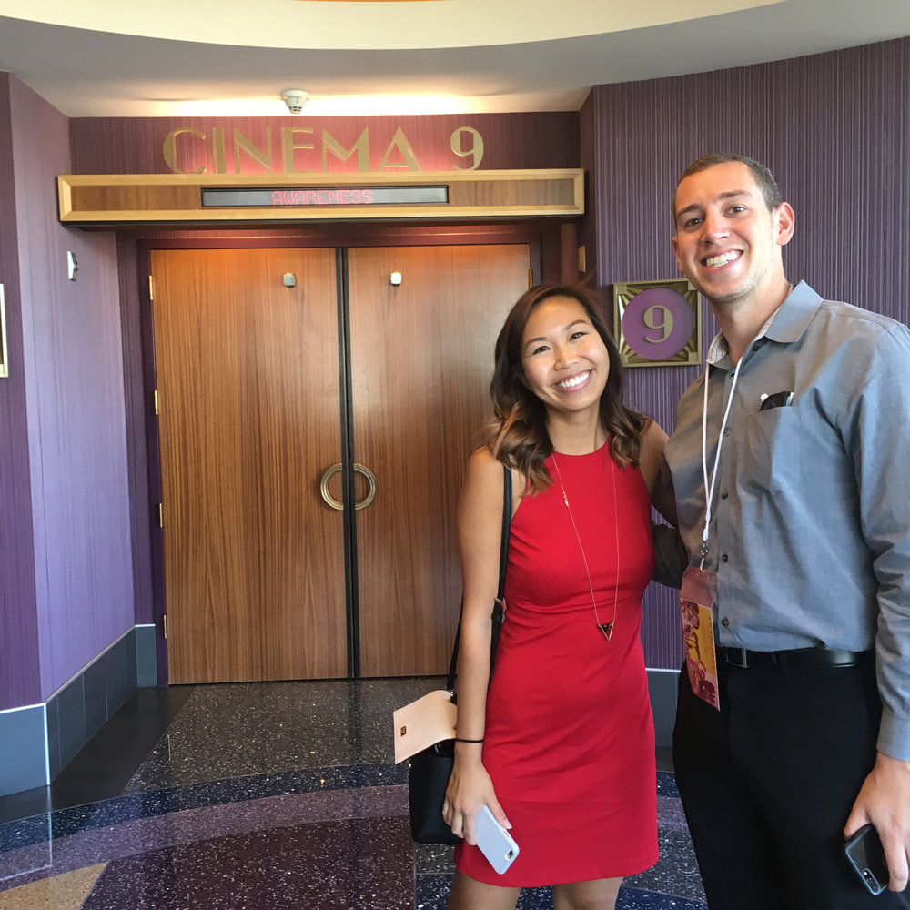 My co-producer Pauline Tran and I attend the world premiere of our film,   Life in Strides